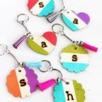 Easy Handmade Gift Idea: Monogrammed Wooden Keychains