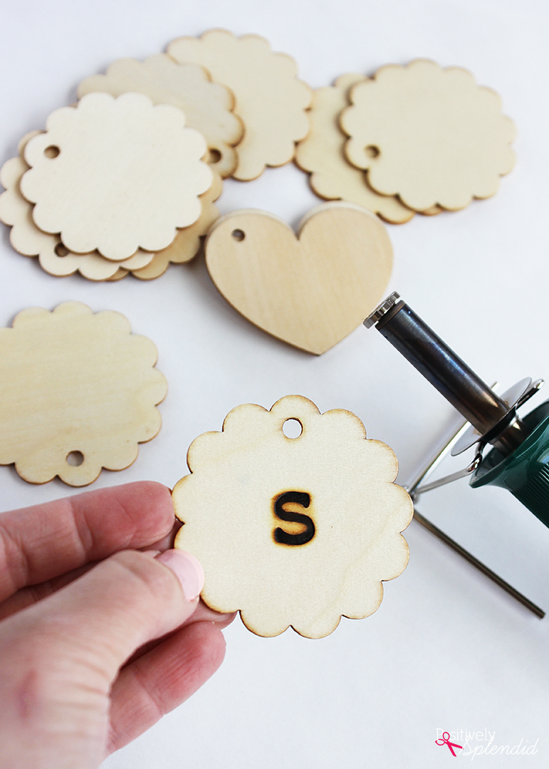 Quick and Easy Craft Idea: Monogrammed Wooden Keychains. Make great gifts! #PlaidCreators