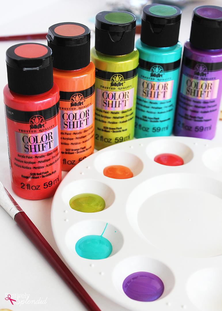 FolkArt Color Shift Paint #PlaidCreators