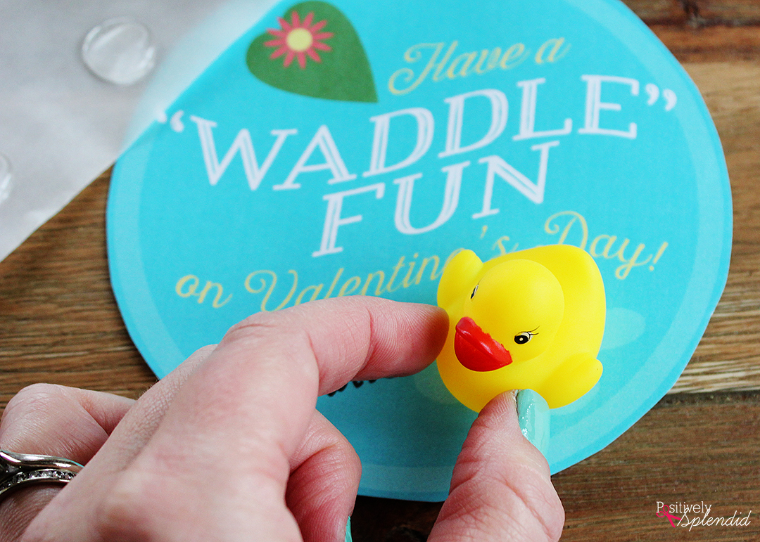 photo regarding Rubber Ducky Printable identified as Rubber Duck Valentines - No cost Printables! A outstanding sweet-no cost