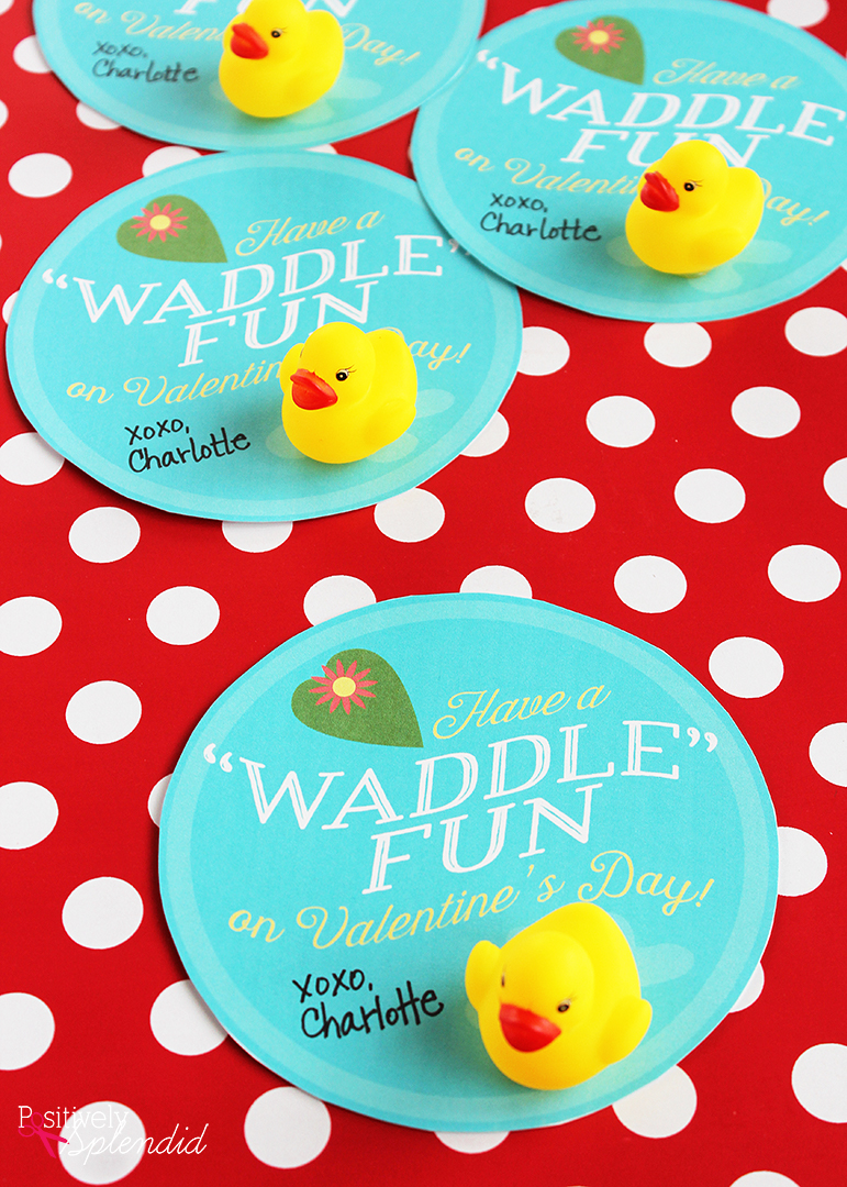 Rubber Duck Food Card Free Printable