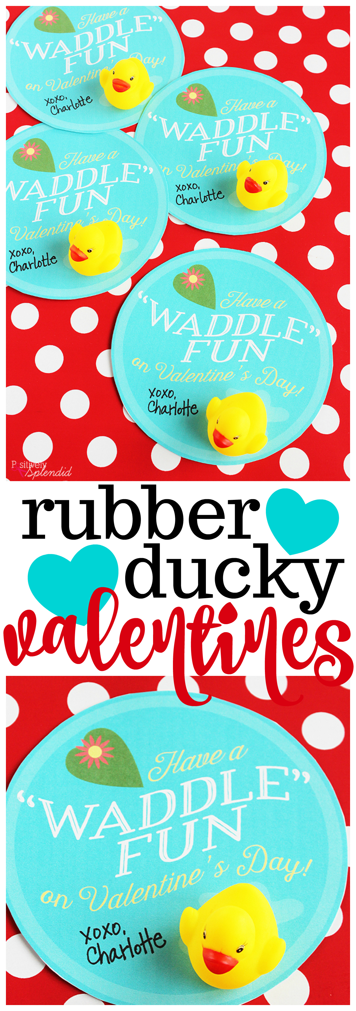 Printable Rubber Duck Valentine Cards for Kids