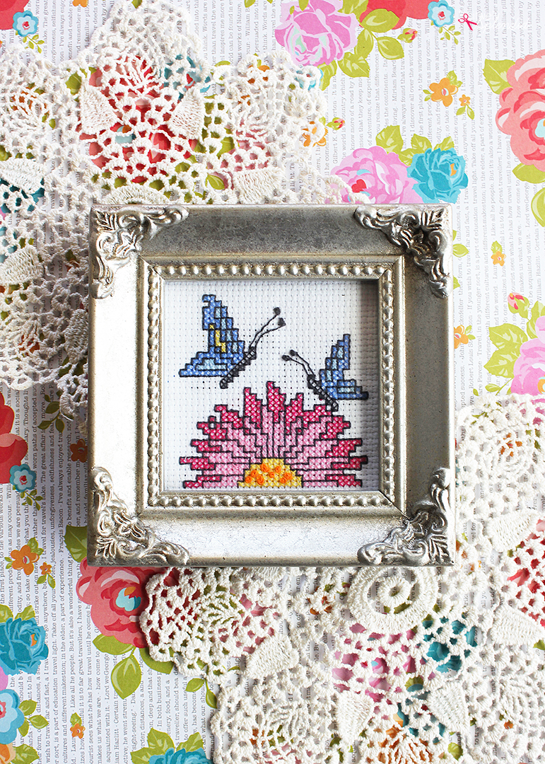 Stitching Tips//Fabric Planning Guide included. Not a Kit Enchanted Village Cross Stitch Pattern