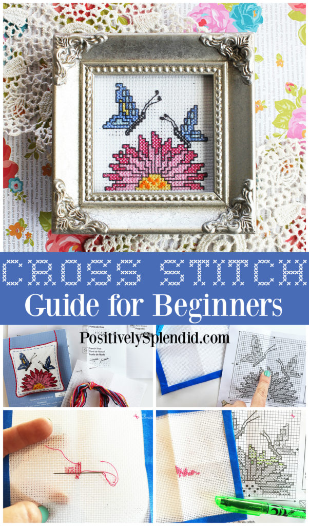 Perfect For Quick Projects. Handmade Beginners Cross Stitch Kit Rose