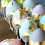 DIY Easter Craft Idea: Gilded Easter Eggs