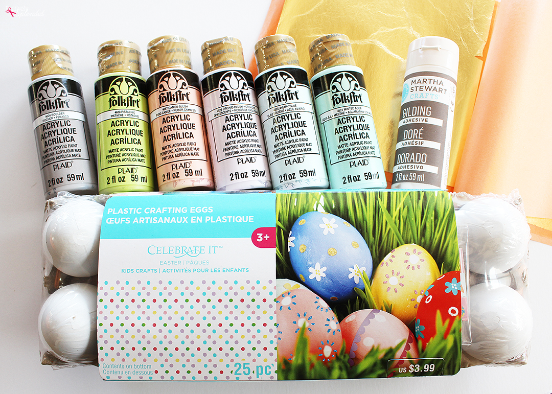 These gilded Easter eggs are a beautiful DIY Easter egg idea!