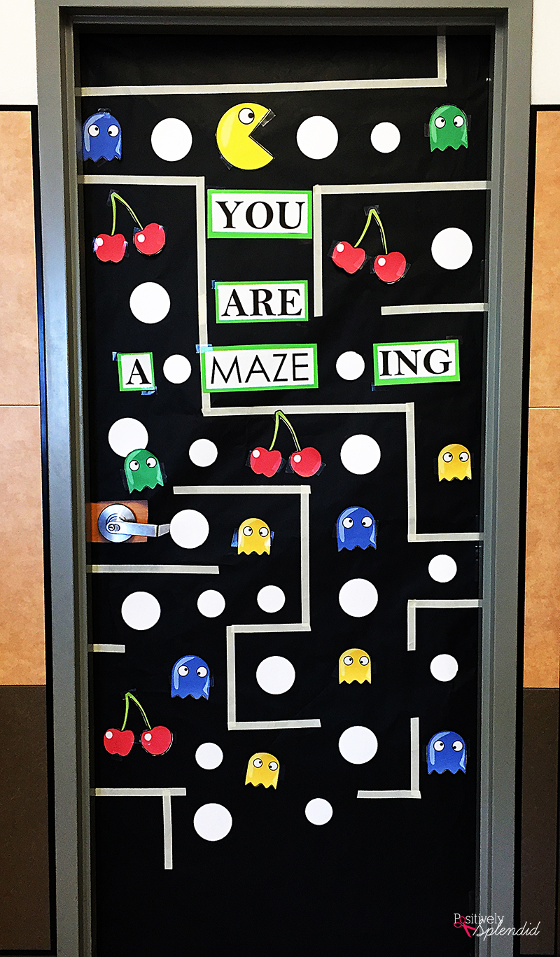 stunning Pac Man Door Decoration Part - 6: Pac-Man Teacher Appreciation Door Decoration Idea