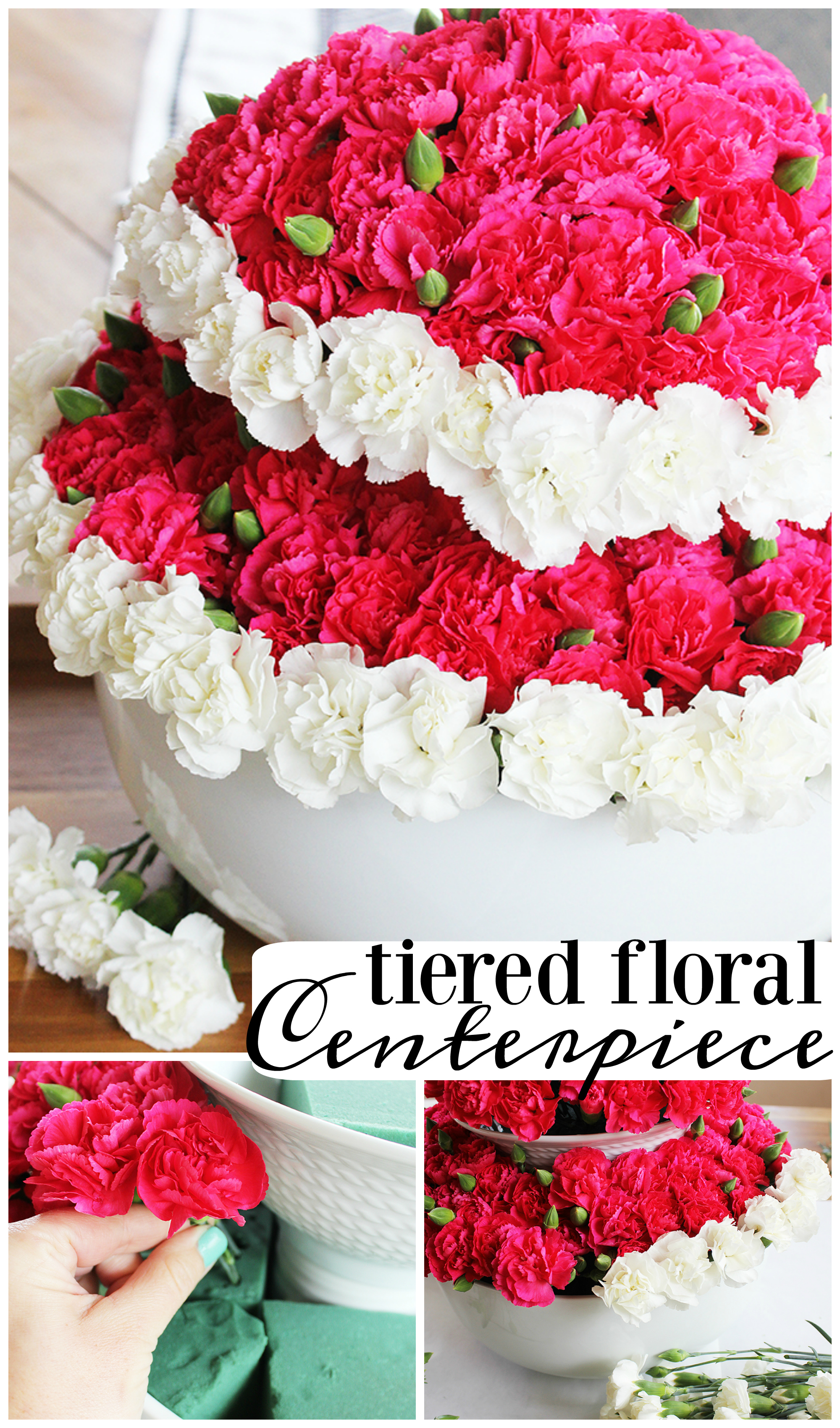 DIY Tiered Floral Centerpiece - This is so easy to make, and perfect for so many occasions! #bhglivebetter