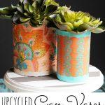 Mod Podge Can Vases