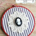 Cameo Embroidery Hoop Art