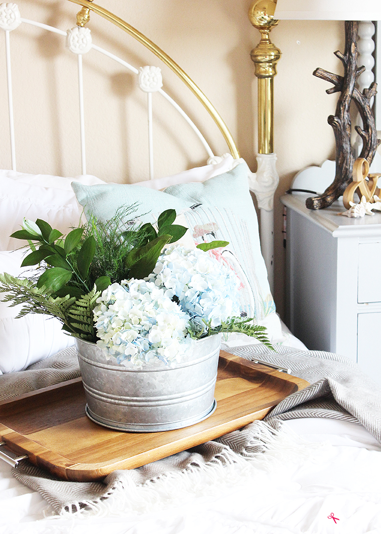 This beachy bedroom redo shows five easy tips for how to instantly update a bedroom! #bhglivebetter