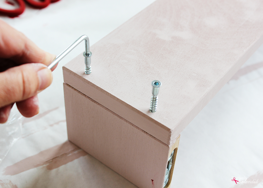 Ikea Bekvam Spice Rack Bookshelf made with FolkArt Home Decor Chalk Paint--Such a terrific Ikea storage hack idea! #plaidcreators