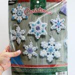 Felt Snowflake Ornaments + Bucilla Kit Giveway!