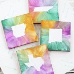 DIY Watercolor State Coasters