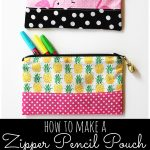 Zipper Pencil Pouch Sewing Tutorial