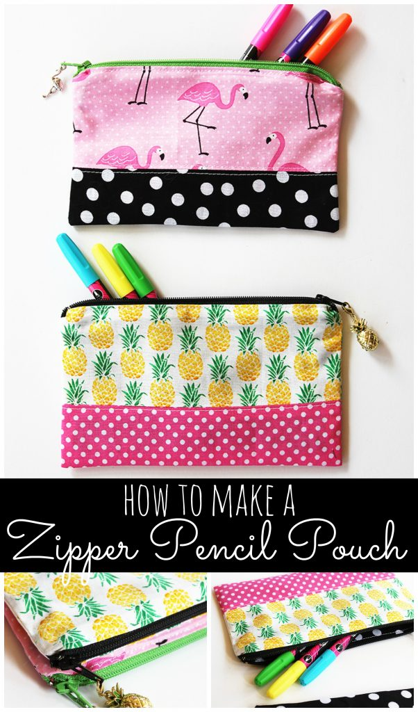 Zipper Pencil Pouch Diy Sewing Tutorial By Positively Splendid