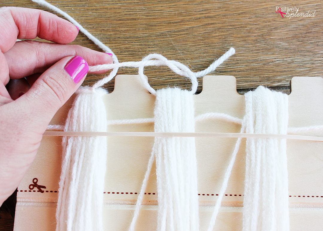 Bucilla RyaTie is the easiest way to make pom-poms for home decor projects!