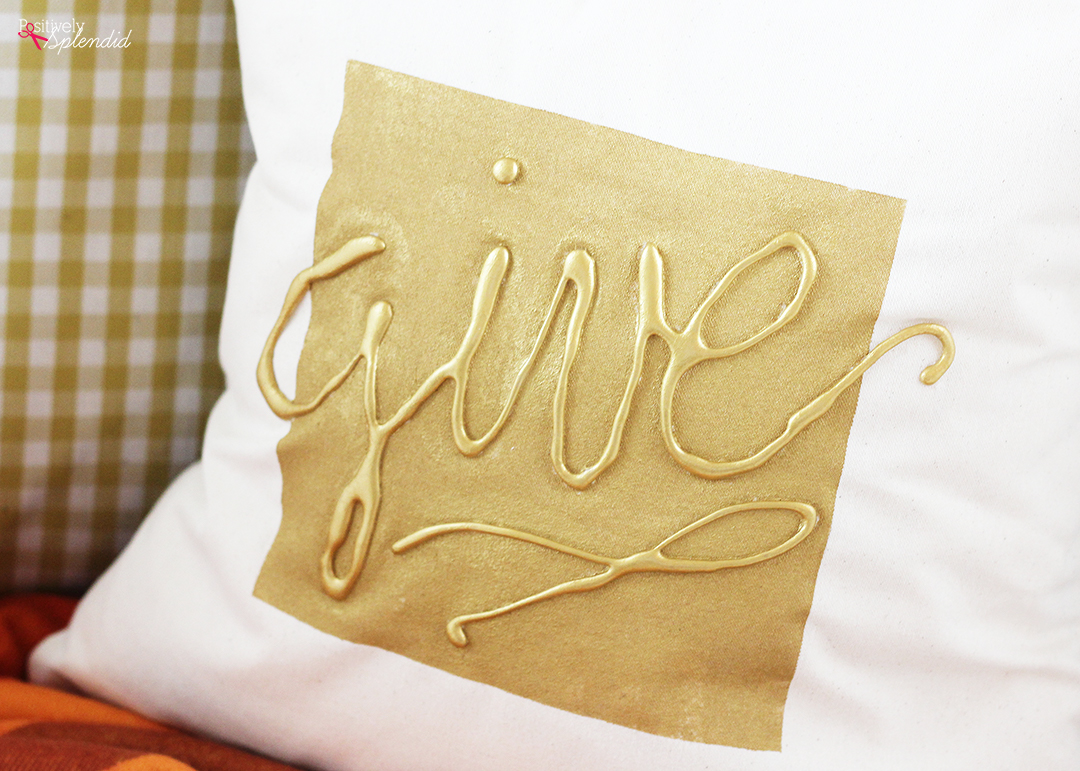 Diy throw pillow idea hot glue embellished pillow cover - What is a throw pillow ...