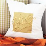 Hot Glue Embellished DIY Throw Pillow