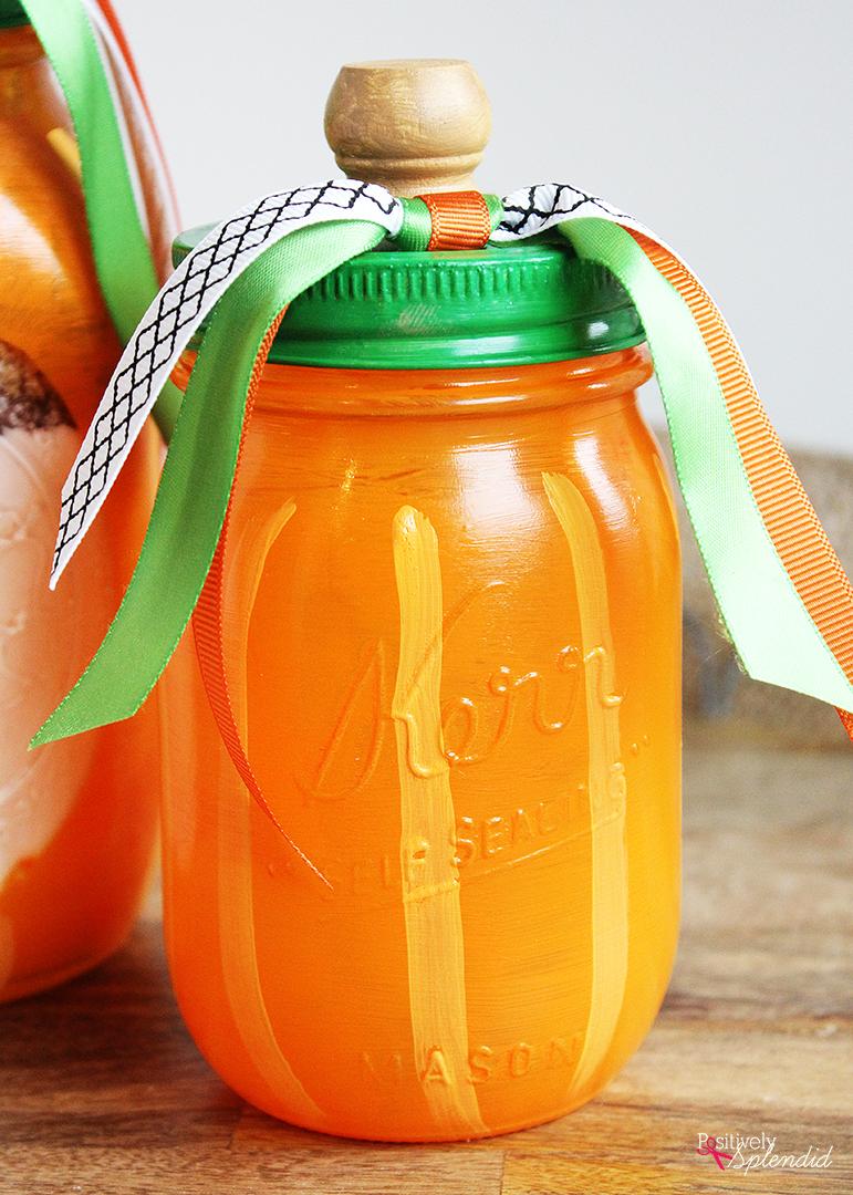 Easy Pumpkin Mason Jar Fall Craft Idea