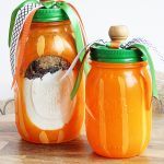 Easy Pumpkin Mason Jar Fall Craft Idea - Perfect for fall jar muffin and cookie mixes!