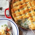 Chicken Pot Pie with Crescent Roll Crust