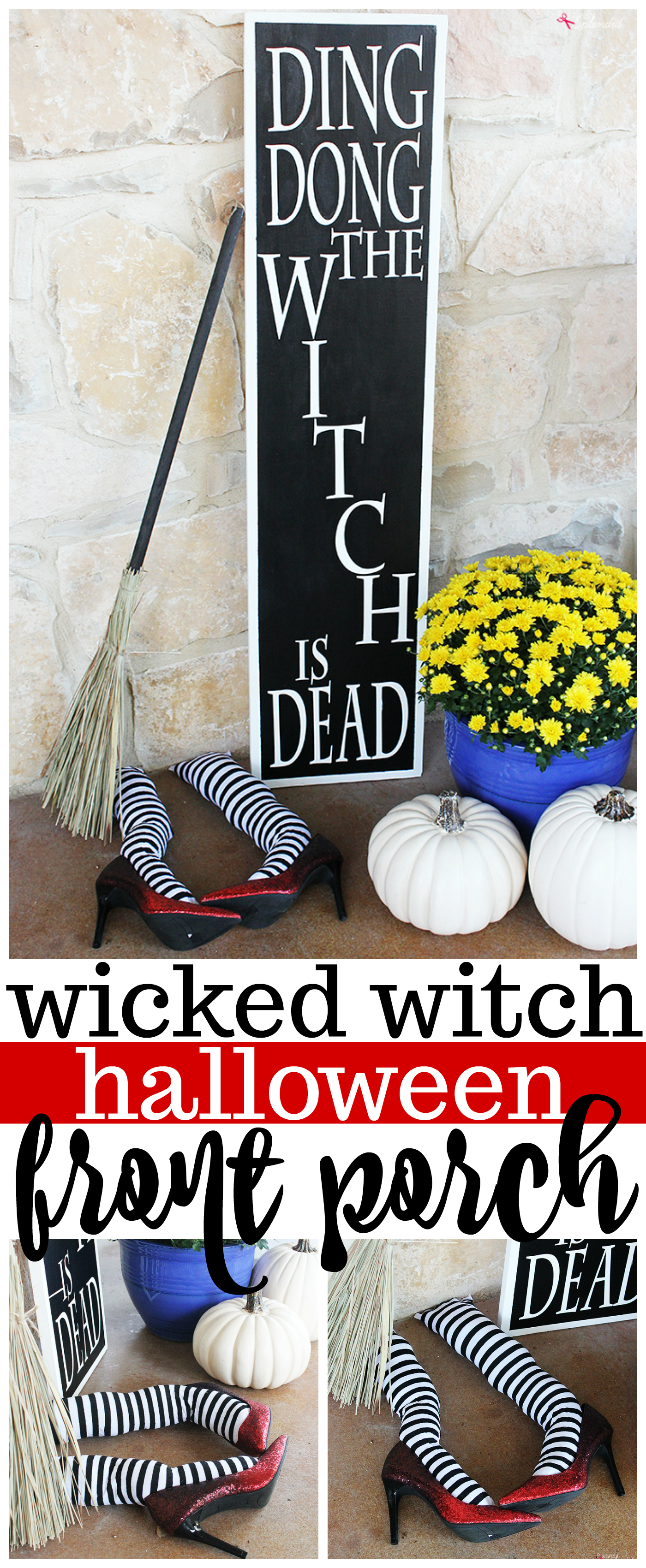 DIY Witch Legs Wizard of Oz Halloween Front Porch Decorations