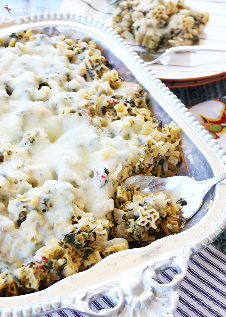 Creamy Green Chile Chicken Baked Pasta Recipe