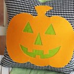 DIY Jack-o-Lantern Halloween Pillow