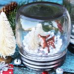 How to make a DIY Mason jar snow globe.