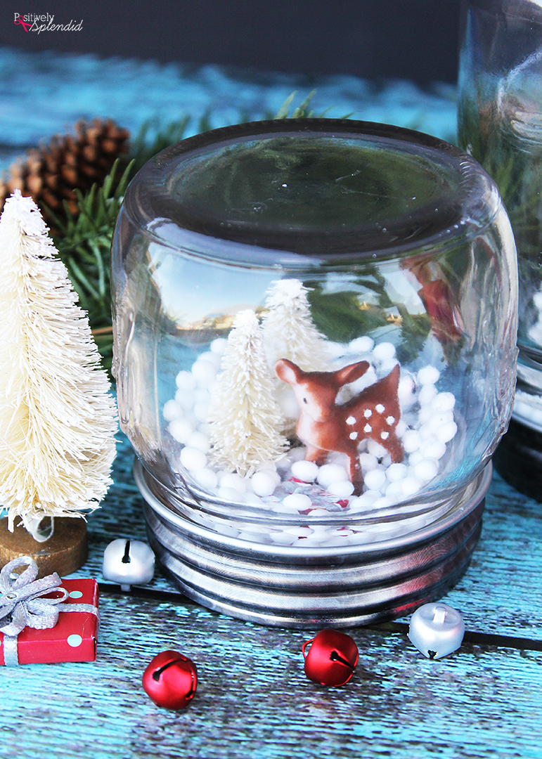 how to make a diy mason jar snow globe