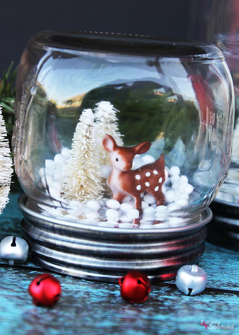 How to make a DIY Mason jar snow globe.