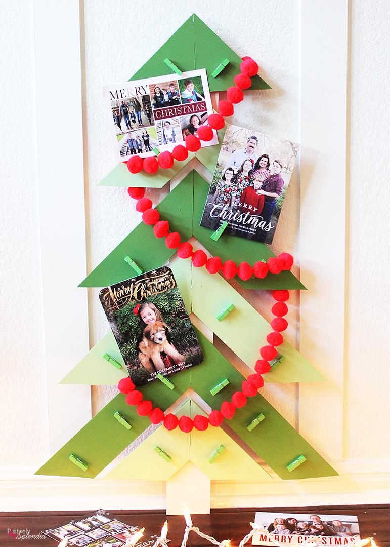Christmas Tree DIY Christmas Card Holder