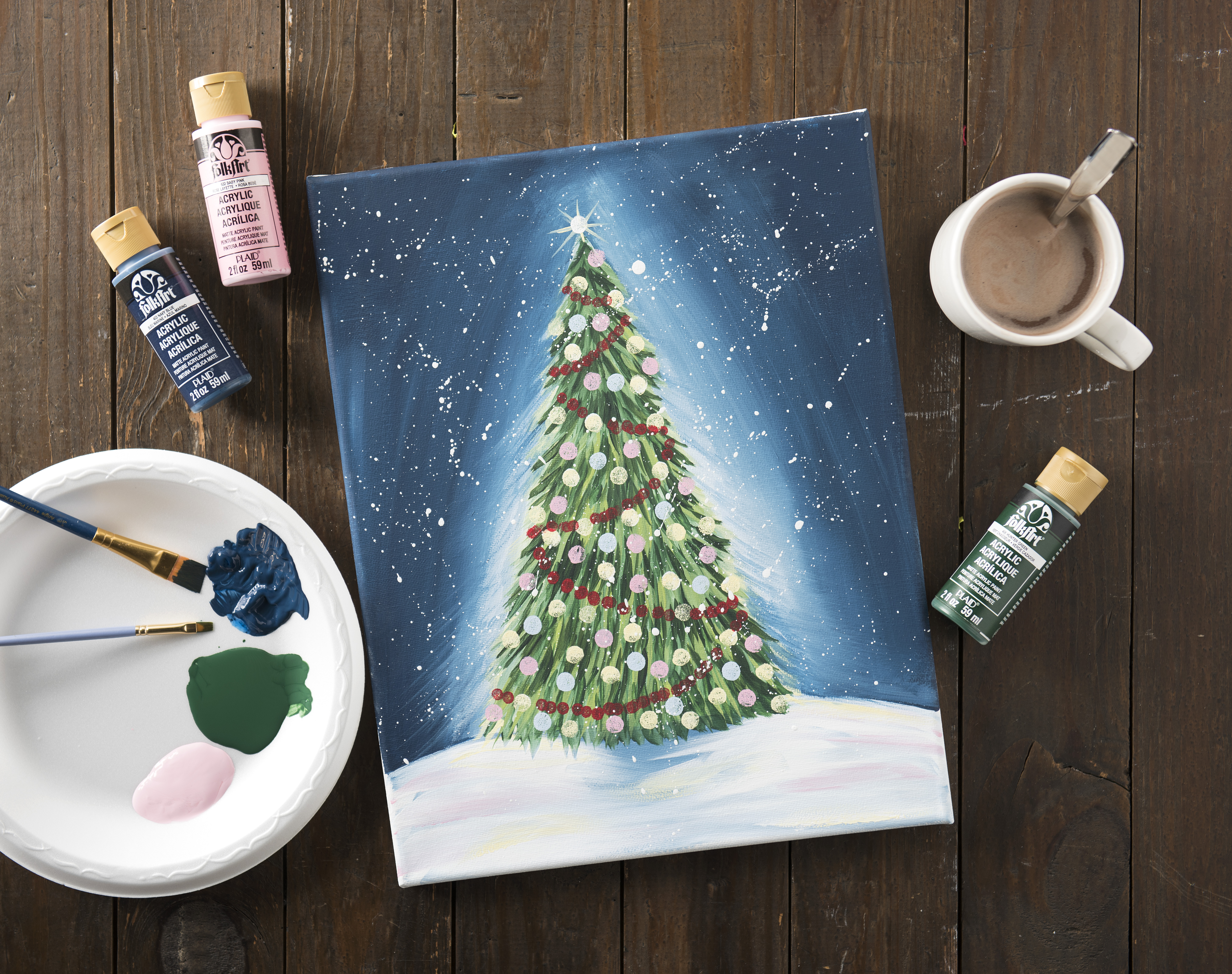 Plaid Holiday Magic Paint Party