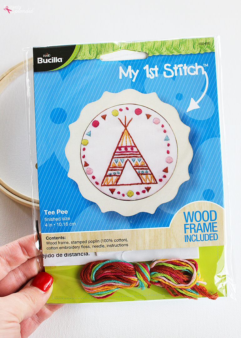 Bucilla Tee Pee Embroidery Kit