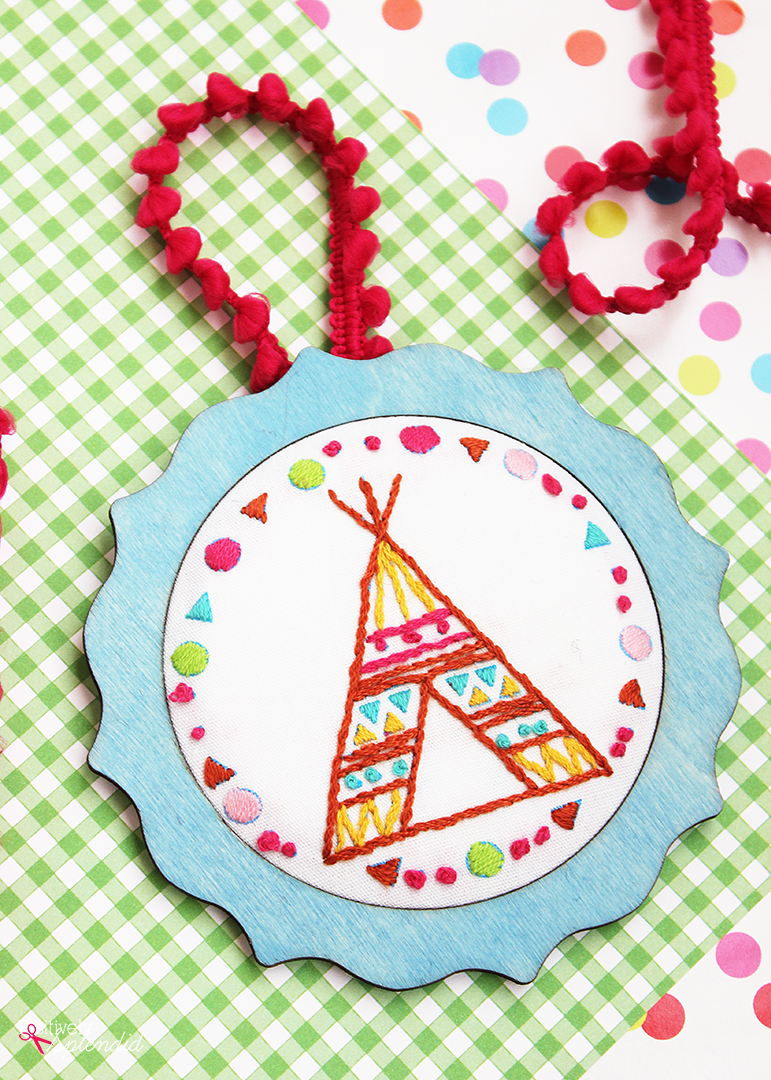 Tee Pee Embroidery Design