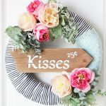 Floral Valentine's Day Wreath at PositivelySplendid.com