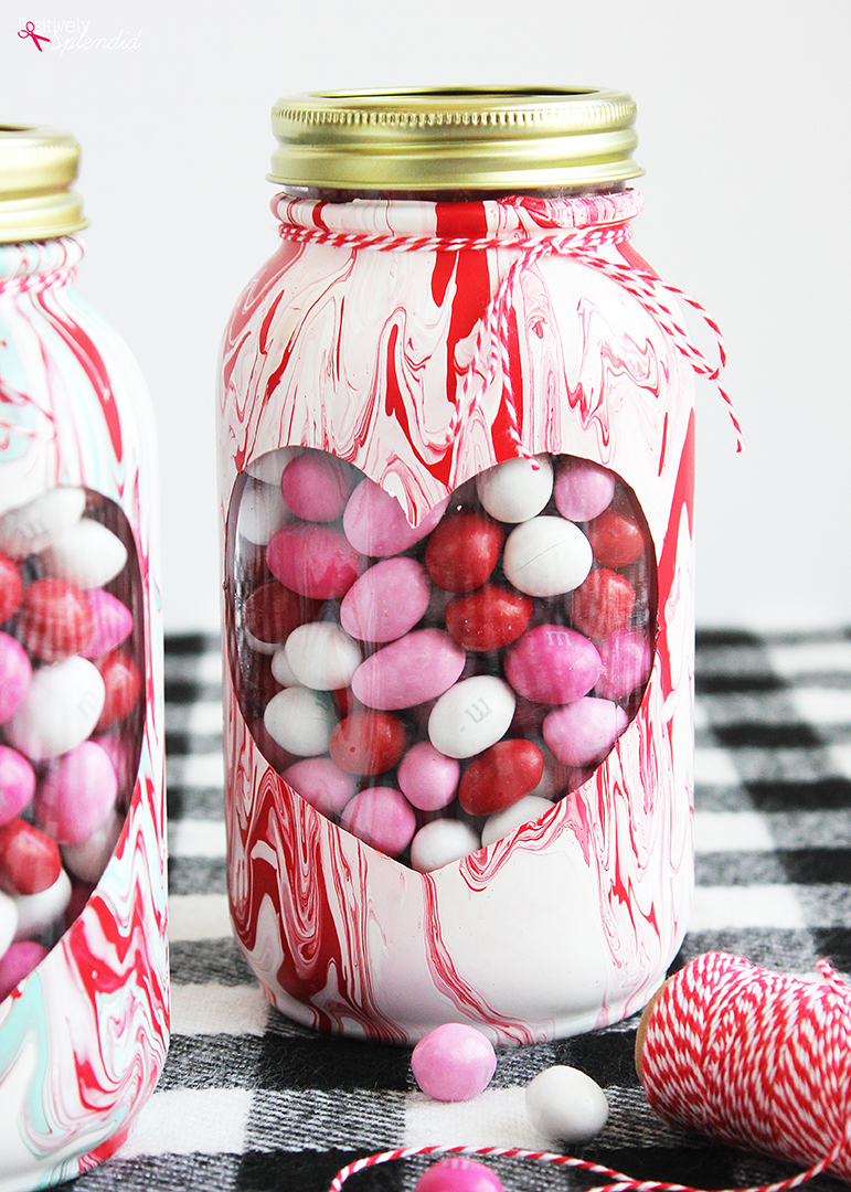 Valentine's Day Mason Jar Craft