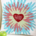 Handprint Pillow Class Project Idea - Great for a silent auction!