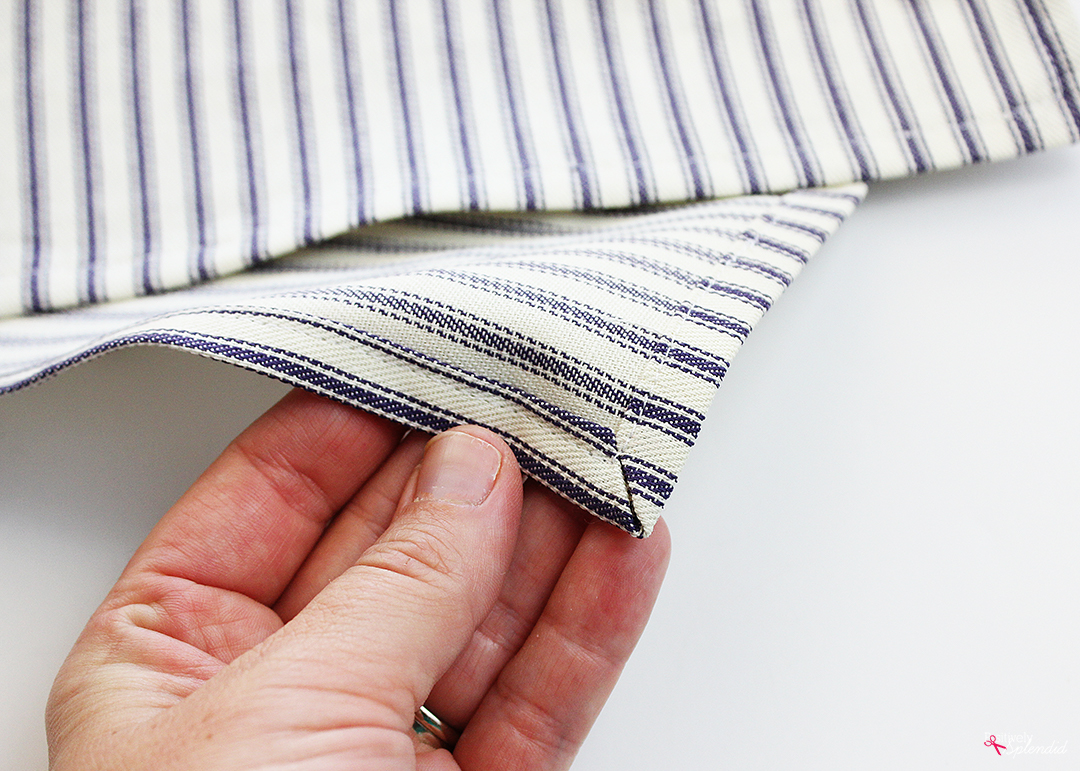 How to Sew Mitered Corners (The Easy Way!)