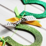 Glittered Horseshoe Garland St. Patrick's Day Craft Idea