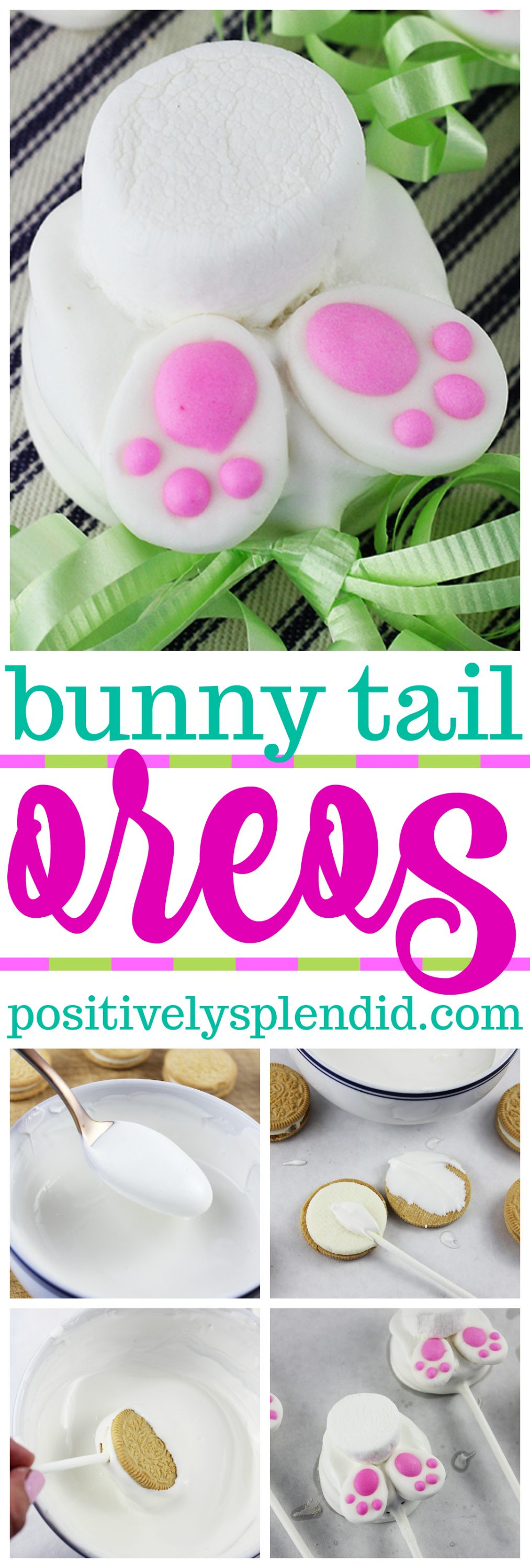 Bunny Tail Easter Oreo Pops