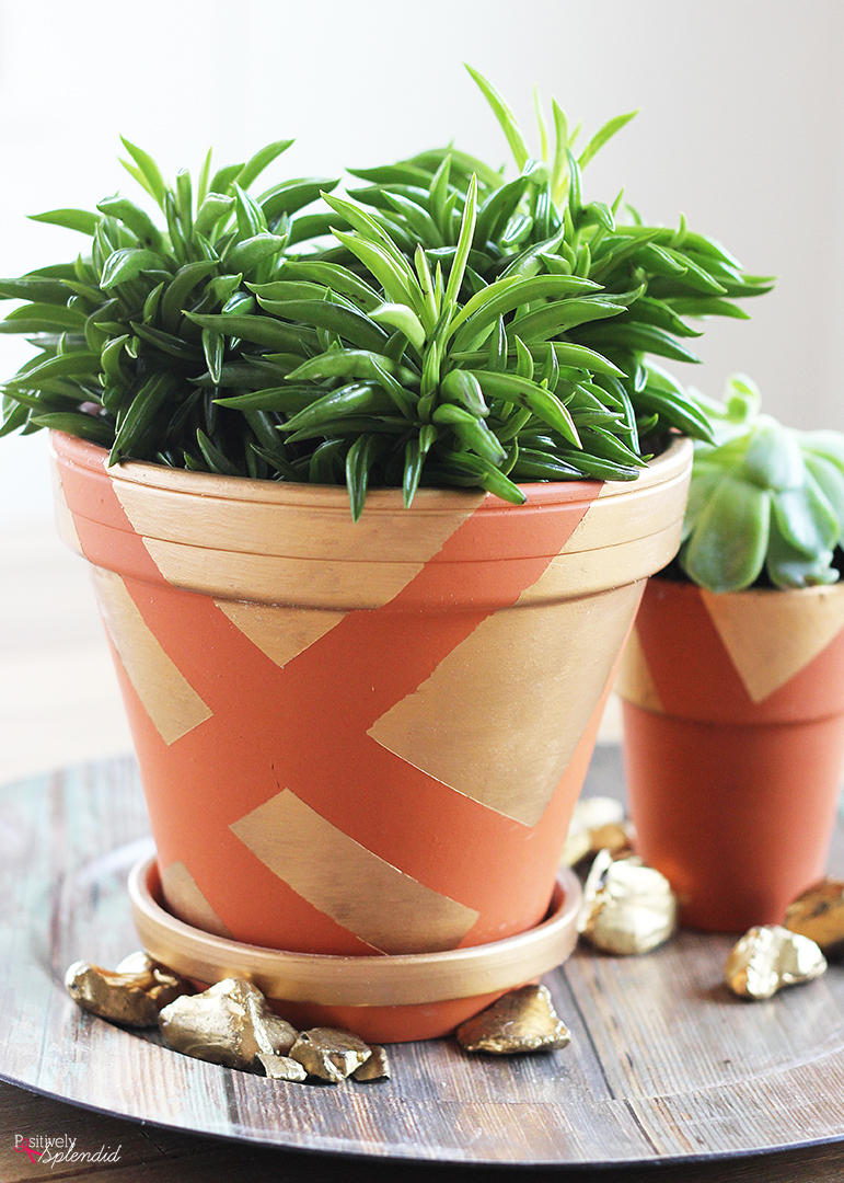 DIY Painted Clay Pots