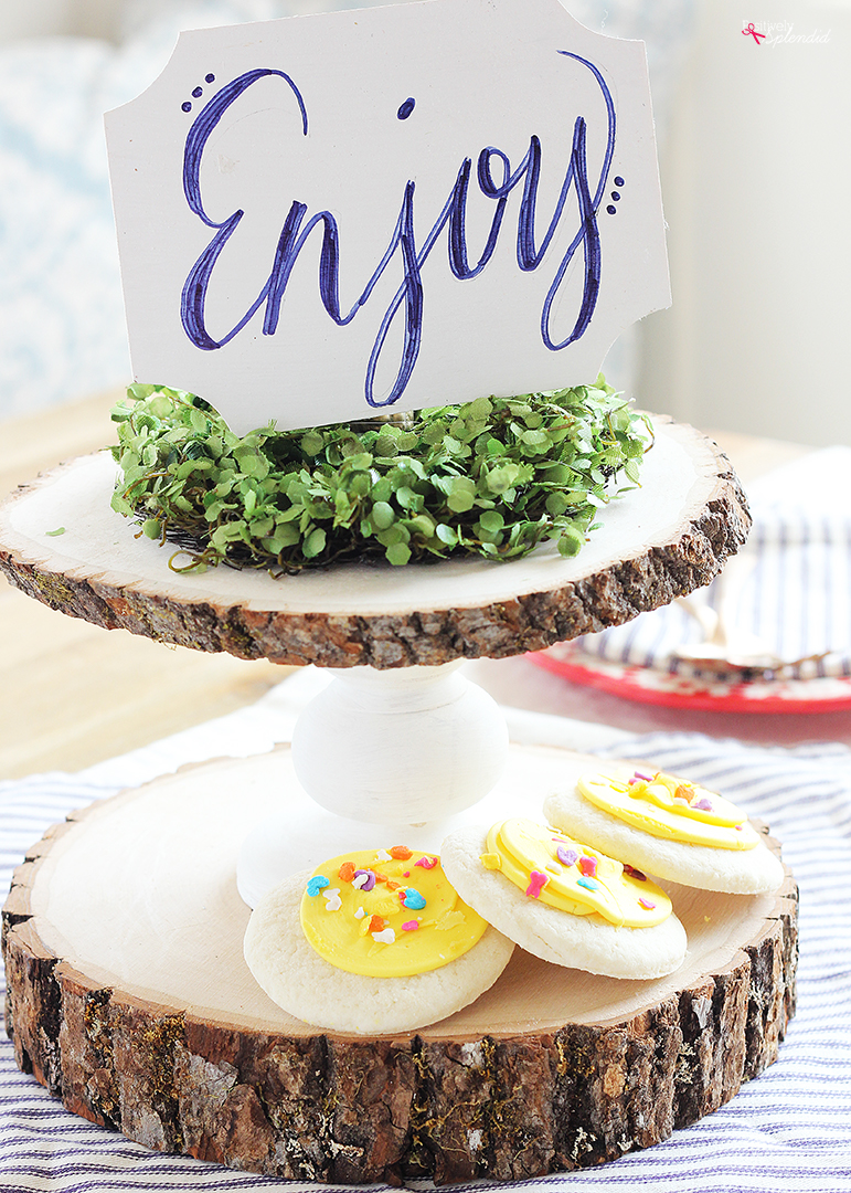 DIY Wood Slab Cake Pedestal
