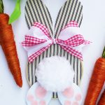 Embroidery Hoop Bunny Easter Wreath