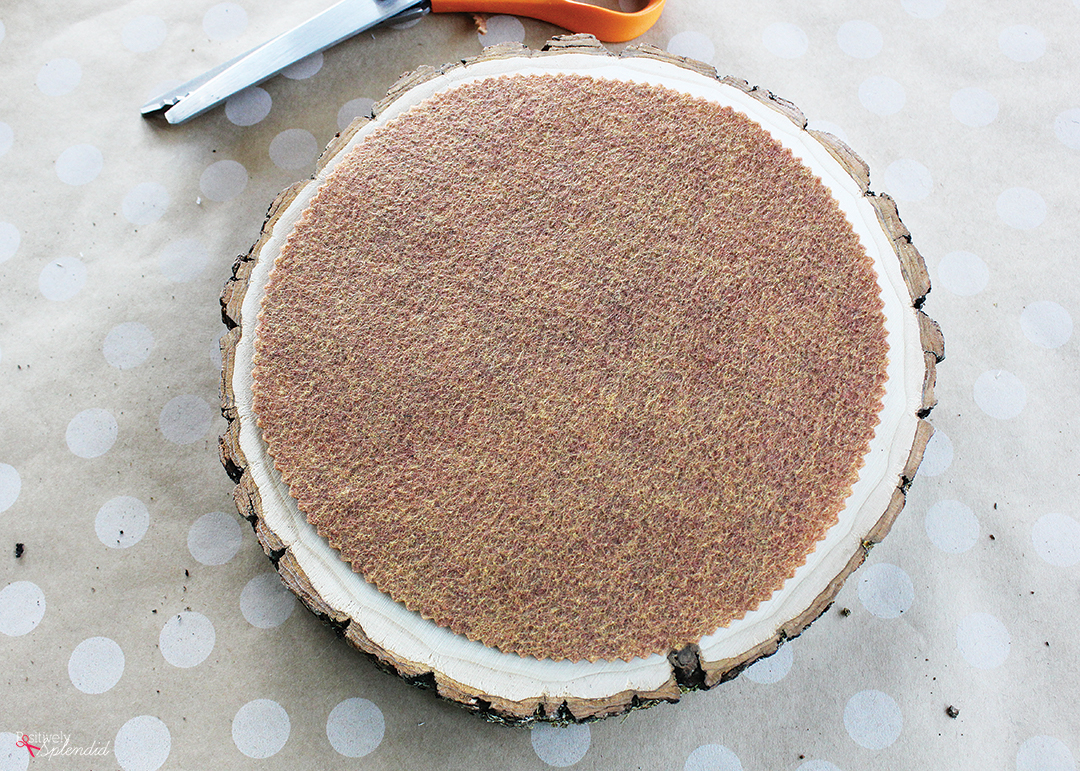 How to Make a Rustic Wood Cake Stand