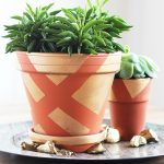 DIY Gold Painted Clay Pots