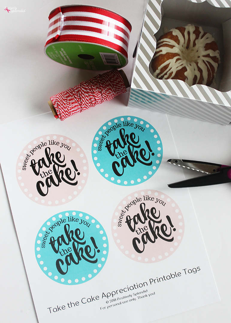 Miniature Cake Teacher Appreciation Gift Idea (Free printable tags!)
