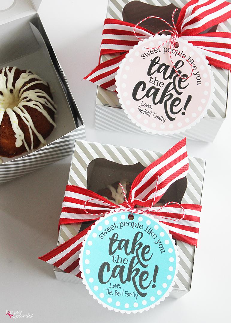 Miniature Cake Teacher Appreciation Gift Idea (Free Printables!)