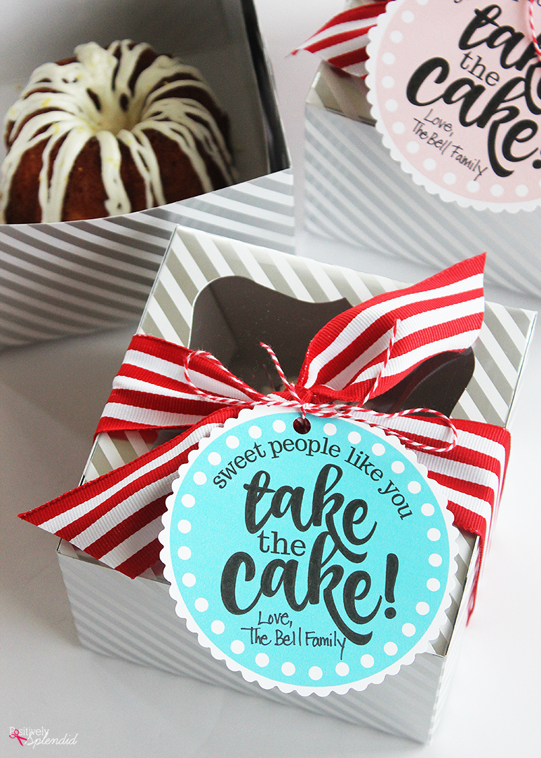 picture regarding Free Printable Teacher Appreciation Gift Tags called Miniature Cake Trainer Appreciation Reward (Totally free Printable Tags!)
